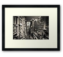 Books, Books, and more books!!!! Framed Print