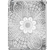 Vintage black white watercolor lace floral pattern iPad Case/Skin