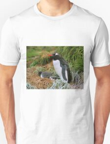 Gentoo Penguins on the Nest T-Shirt