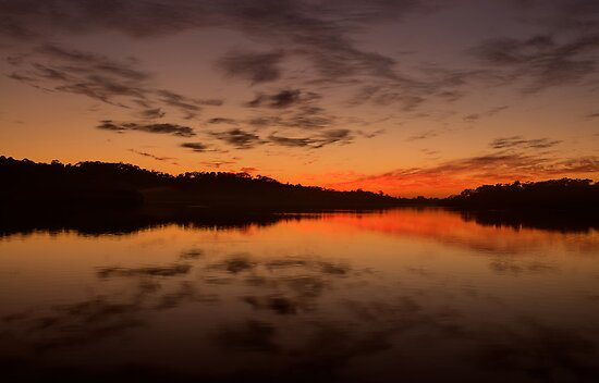 Burn For You - Narrabeen Lakes, Sydney Australia - The HDR Experience by Philip Johnson