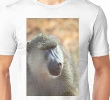 Yellow Baboon Portrait Unisex T-Shirt