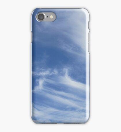 Stripey clouds iPhone Case/Skin