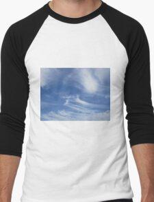 Stripey clouds Men's Baseball ¾ T-Shirt