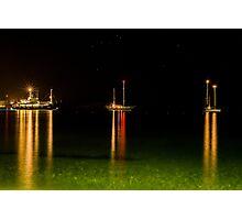 Night ships Photographic Print