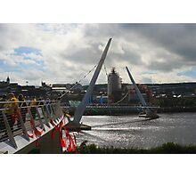 Derry Peace Bridge Photographic Print