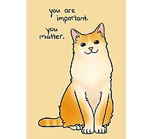 """You Matter"" Cat Photographic Print"