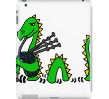 Funny Loch Ness Monster Playing the Bagpipes iPad Case/Skin