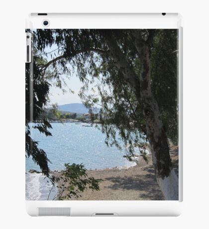 Through trees boats on the water iPad Case/Skin