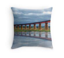 Reflections of a Flood - The River Murray, Murray Bridge, South Australia Throw Pillow