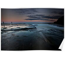 Dusk at Sydney Northern Beaches Poster