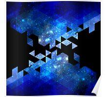 Blue Rockett Space Poster