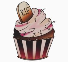 R.I.P Cupcake One Piece - Short Sleeve