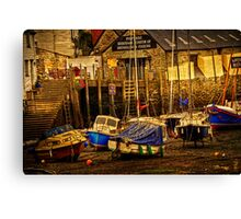 Polperro Low Tide Canvas Print