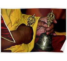 dorje and bell. tibetan ritual, northern india Poster
