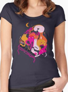 Jazz Cats Women's Fitted Scoop T-Shirt