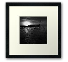 Without Pier 02, St Annes on Sea, Lancashire, UK Framed Print