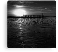 Without Pier 02, St Annes on Sea, Lancashire, UK Canvas Print