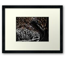 inking in the woods Framed Print