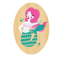 Mermaid in Pink Photographic Print