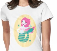 Mermaid in Pink Womens Fitted T-Shirt