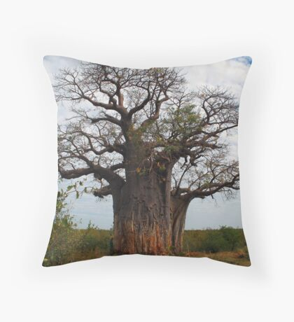 Baobab Tree, Botswana Throw Pillow