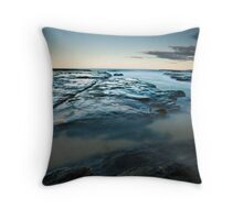Winter's Flow Throw Pillow