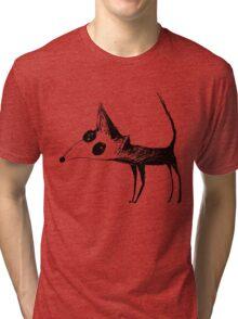 Cute Fox Graphic Tri-blend T-Shirt
