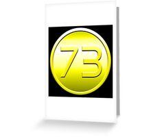 Golden 73 Greeting Card