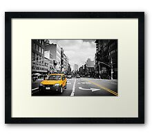 The cab... Framed Print