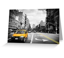 The cab... Greeting Card