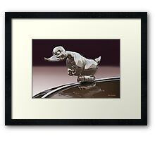 Angry Duck Hood Ornament Framed Print