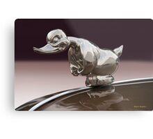 Angry Duck Hood Ornament Metal Print
