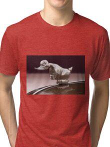 Angry Duck Hood Ornament Tri-blend T-Shirt