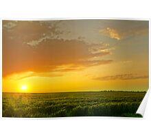A Plains Sunset Poster