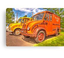 old milk trucks Canvas Print