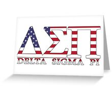 Delta Sigma Pi American Flag Greeting Card