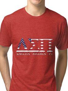 Delta Sigma Pi American Flag Tri-blend T-Shirt