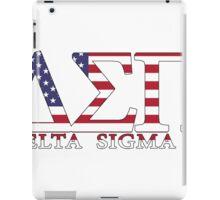 Delta Sigma Pi American Flag iPad Case/Skin