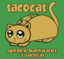 Funny - Tacocat Spelled Backwards (vintage look) Baby Tee