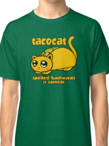Funny - Tacocat Spelled Backwards (vintage look) Classic T-Shirt