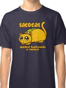 Funny - Tacocat Spelled Backwards (vintage look) Classic T-Shirt