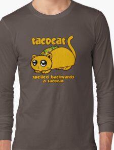 Funny - Tacocat Spelled Backwards (vintage look) Long Sleeve T-Shirt