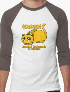 Funny - Tacocat Spelled Backwards (vintage look) Men's Baseball ¾ T-Shirt