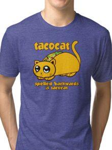 Funny - Tacocat Spelled Backwards (vintage look) Tri-blend T-Shirt
