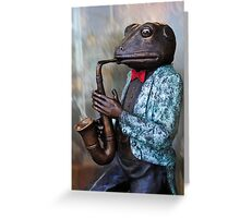 Featuring Mr.Toad on Sax Greeting Card