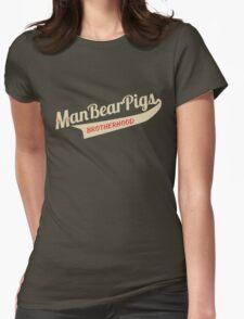 Man Bear Pigs Script Womens Fitted T-Shirt