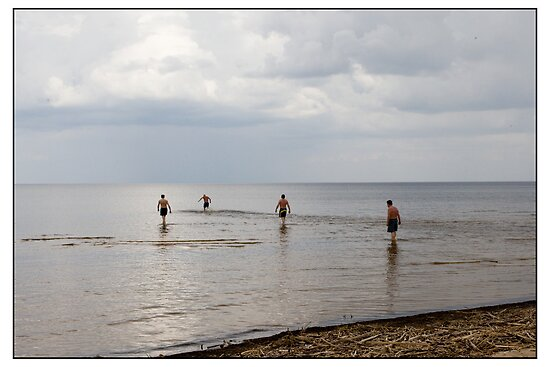Bathers, Vecaķi, Rīga, Latvia. (2010) by Madeleine Marx-Bentley