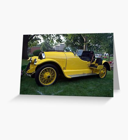 """1920 Kissell Silver Special Speedster """"Gold Bug"""" Greeting Card"""