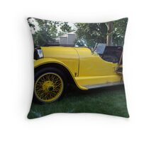 "1920 Kissell Silver Special Speedster ""Gold Bug"" Throw Pillow"