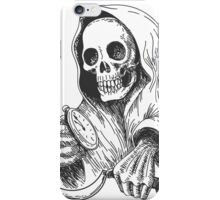 Death with sickle and pocket watch.   iPhone Case/Skin